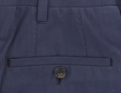 New $900 Cesare Attolini Dark Blue Solid Pants - Slim - (CA01002B22) - Parent