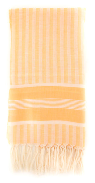 "New $300 Cesare Attolini Orange Striped Long Scarf - 27.75"" x 69"" - (SC112F02Y21)"