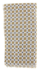 "$300 Cesare Attolini Yellow Geometric Long Scarf - 27.75"" x 74"" (SC112T0602Y11)"