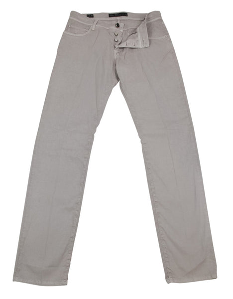 New $450 Cesare Attolini Beige Solid Pants - Extra Slim - (TR111S52G11) - Parent