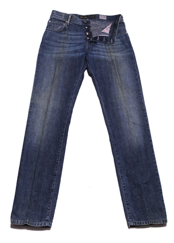 Cesare Attolini Denim Blue Jeans - Slim