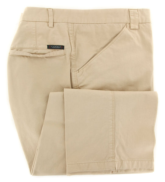 New $375 Canali Beige Solid Pants - Slim - (970469095873) - Parent