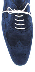$750 Sutor Mantellassi Navy Blue Shoes Size 7.5 (US) / 6.5 (EU)