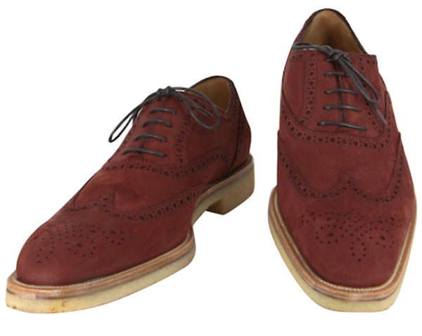 $925 Sutor Mantellassi Burgundy Red Shoes Size 8 (US) / 7 (EU)