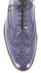 $875 Sutor Mantellassi Blue Shoes Size 7 (US) / 6 (EU)