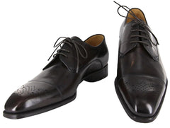 $1175 Sutor Mantellassi Dark Brown Shoes Size 8.5 (US) / 6.5 (EU)