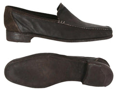 New $775 Sutor Mantellassi Dark Brown Shoes - Loafer - 7/6