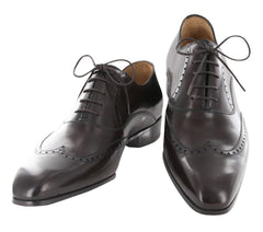 New $1050 Sutor Mantellassi Dark Brown Shoes - Lace Up Wingtip - 11.5/10.5