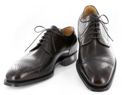 $1200 Sutor Mantellassi Dark Brown Shoes Size 7.5 (US) / 6.5 (EU)