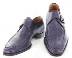 $1025 Sutor Mantellassi Purple Shoes Size 8 (US) / 7 (EU)