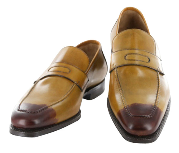 $1050 Sutor Mantellassi Caramel Brown Shoes Size 7 (US) / 6 (EU)