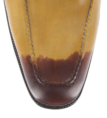 New $1050 Sutor Mantellassi Caramel Light /Dark Brown Shoes - Loafer - 11.5/10.5