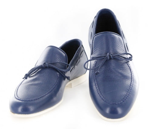 $600 Sutor Mantellassi Blue Shoes Size 6.5 (US) / 5.5 (EU)