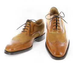 New $1200 Sutor Mantellassi Caramel Brown Shoes - Lace Up Wingtip - 11.5/10.5
