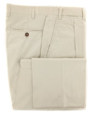 New $375 Canali Beige Solid Pants - Slim - 30/46 - (8112090402R6)