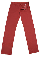 New $375 Canali Red Solid Pants - Slim - (915009090693) - Parent