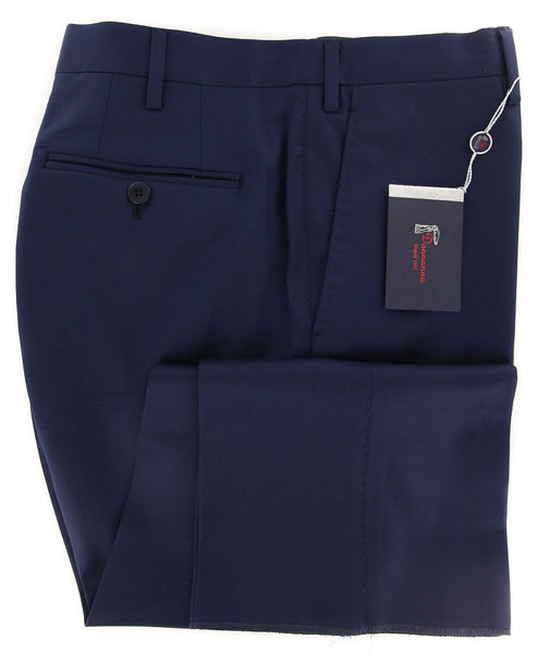 New $600 Donnanna Navy Blue Solid Pants - Slim - 42/58 - (LAZIO6018016653)