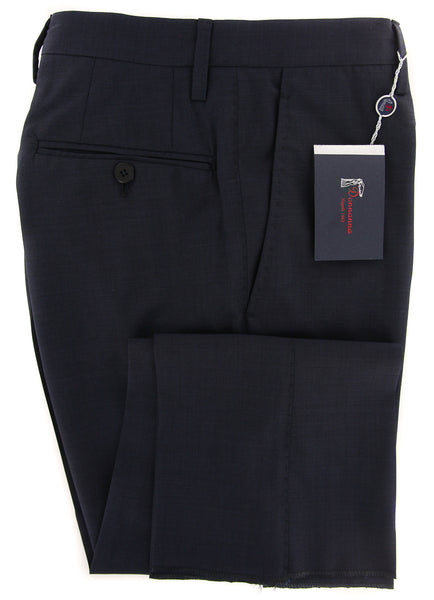 New $600 Donnanna Navy Blue Solid Pants - Slim - 42/58 - (LAZIOT00438)