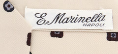 "New $195 E. Marinella Beige Fancy Tie - 3.75"" x 56"" - (EMTIEX127)"