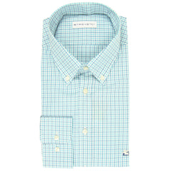 $550 Etro Blue Plaid Cotton Shirt - Slim - 15.75/40 - (LR)