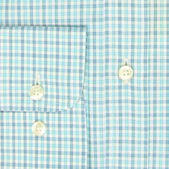 $550 Etro Blue Plaid Cotton Shirt - Slim - (LR) - Parent