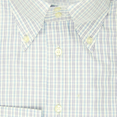 $550 Etro Blue Plaid Cotton Shirt - Extra Slim - 14.5/37 - (LN)