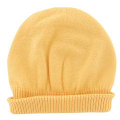 $350 Fiori Di Lusso Yellow Solid Cashmere Blend Beanie - (897) - Parent