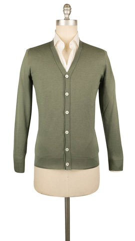 Fiori Di Lusso Light Green V-Neck Cardigan