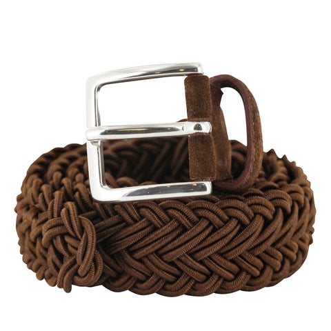 Fiori Di Lusso Brown Braided Belt