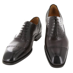 New $1250 Fiori Di Lusso Brown Shoes - Wingtip Lace Ups - (BOSTNBRN) - Parent