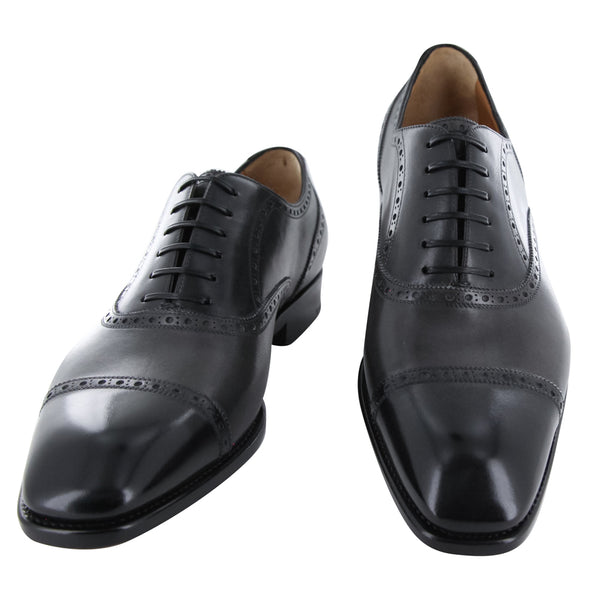 New $1250 Fiori Di Lusso Gray Shoes - Wingtip Lace Ups - (BSNGRY) - Parent