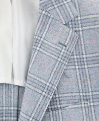 New $3900 Fiori Di Lusso Light Blue Wool Blend Plaid Sportcoat - (2018030618) - Parent