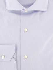 $600 Fiori Di Lusso Light Blue Solid Shirt - Slim - (FLI3763812EDOT) - Parent