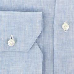 $600 Fiori Di Lusso Light Blue Melange Shirt - Slim - (FL-I-LP1EDOT) - Parent