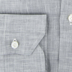 $600 Fiori Di Lusso Gray Melange Shirt - Slim - (FL-I-LP3EDOT) - Parent