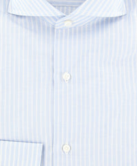 $600 Fiori Di Lusso Light Blue Striped Shirt - Slim - (FLILP6EDOT) - Parent