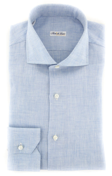 $600 Fiori Di Lusso Light Blue Melange Shirt - Full - (FL-P-LP1WILLT) - Parent