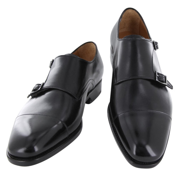 $1250 Fiori Di Lusso Black Leather Shoes - (412327GY2ALTHRBLKE) - Parent