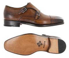 New $1250 Fiori Di Lusso Caramel Shoes - Monk Straps - (LONDONCN) - Parent