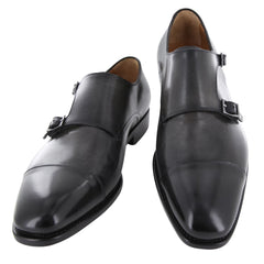 New $1250 Fiori Di Lusso Gray Shoes - Monk Straps - (LONDONGRY) - Parent