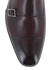 New $1250 Fiori Di Lusso Burgundy Shoes - Monk Straps - (LONDONBURG) - Parent