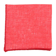"New $100 Fiori Di Lusso Red Melange Pocket Square -  x 12"" - (FL7191710)"