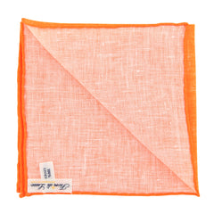 "New $100 Fiori Di Lusso Orange Melange Pocket Square -  x 12"" - (FL7191711)"