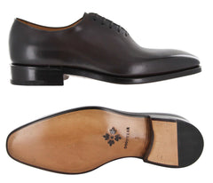 New $1250 Fiori Di Lusso Brown Shoes - Wholecut Lace Ups - (NYBRN) - Parent
