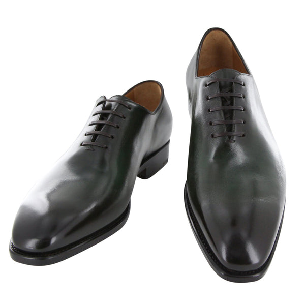New $1250 Fiori Di Lusso Green Shoes - Wholecut Lace Ups - (NYGRN) - Parent