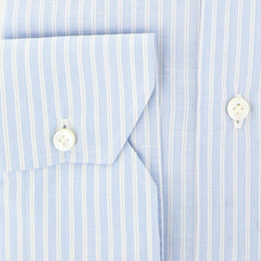 $600 Fiori Di Lusso Light Blue Striped Shirt - Full - (FL-P-LP6WILLT) - Parent