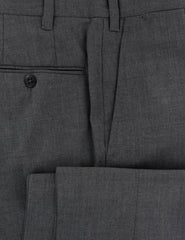 $600 Fiori Di Lusso Dark Gray Solid Wool Pants - Extra Slim - (577) - Parent