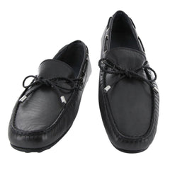 New $550 Fiori Di Lusso Dark Gray Leather Shoes - Loafers - (2018032034) - Parent