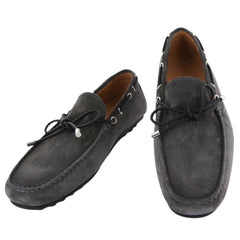New $500 Fiori Di Lusso Gray Suede Shoes - Loafers - (2018032029) - Parent