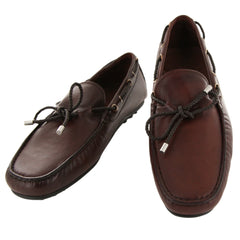 New $550 Fiori Di Lusso Burgundy Leather Shoes-Loafers-9.5 D/8.5 F-(2018032038)